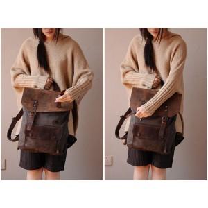 KA3  VINTAGE TAR™  Sac à dos pour femme en toile et cuir véritable